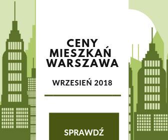 Ceny nieruchomości w Warszawie idą w górę - infografika